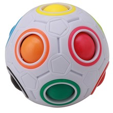Magic Cube Toy novelty toys Football Puzzle Rainbow Learning and educational toys for children adults