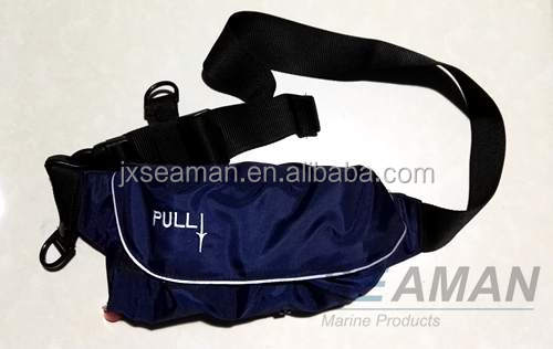 150N Navy Blue Inflatable Waist Life Vest Belt Pack Life Jacket