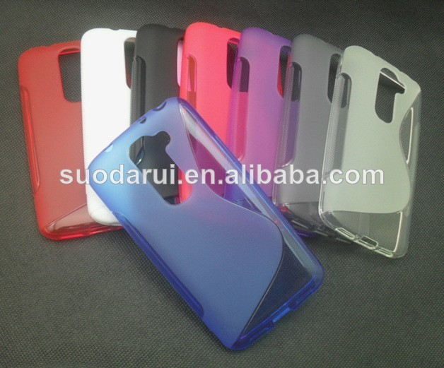 S line Wave Gel TPU Cover Soft silicone case for lg optimus G2 Mini