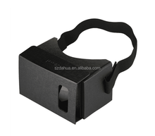 Christmas Factory Beautiful Black Custom Google Cardboard V1 3D VR Glasses Corrugated Cardboard Paper With Magnet Lens