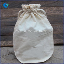 Bottle Bags Natural Cotton Made Drawstring Custom Wholesale Simple Design Packing Bag