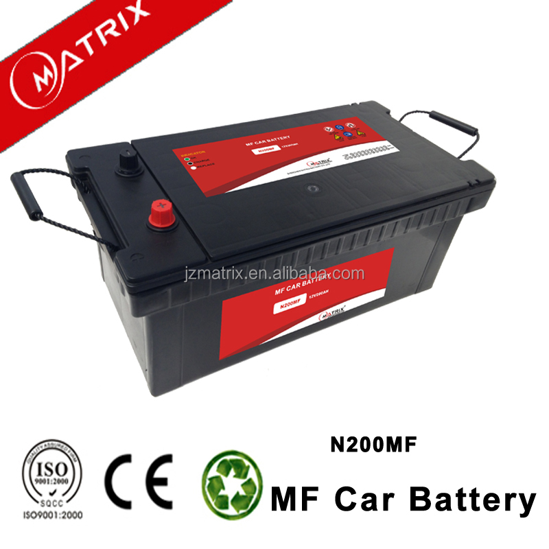Popular models smf car battery n200 12v 200ah with good price