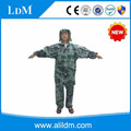 Adult long polyester camouflage military raincoat poncho