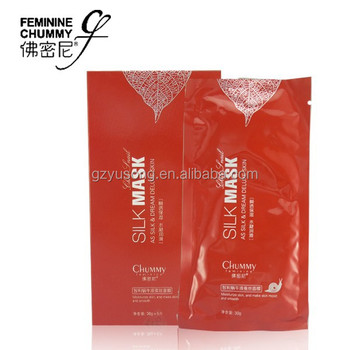 new oem chummy feminie chile snail silk moisturizing & smoothing natural silk facial mask