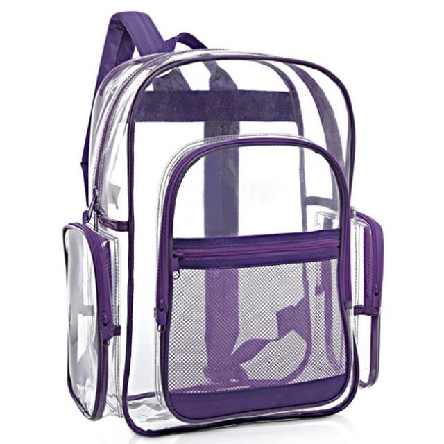 Dropshipping Custom Reusable PVC Transparent School Backpack, Waterproof Makeup Cosmetic PVC Transparent Bag