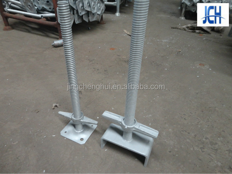 Scaffolding part screw tube galvanized base jack for construction