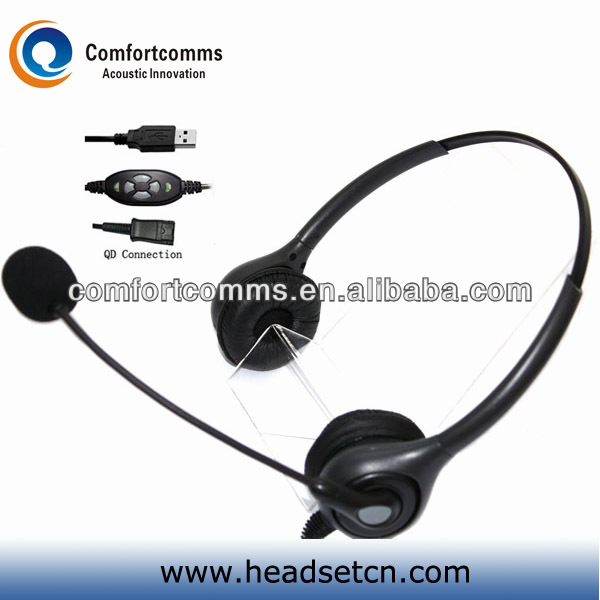 Superior noise cancelling USB telemarketing headset with volume control HSM-602NPQDUSBC