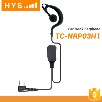 3 Way Ear Hook Mini Earpiece Wireless Walkie Talkie Earpiece