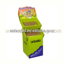 corrugated odwalla bar chocolate bar candy display rack 2 tray no overlap promotion item cardboard paper display card