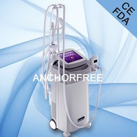 Vacuum Liposuction+Infrared Laser+Bipolar RF+Roller Massage Beauty Machine for Reduce Face Fat