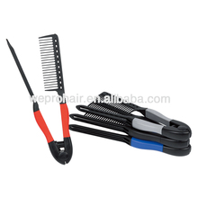 Best Selling Rubberized Spring Grip Straightening Comb Plastic Hair Cutting Detangling Comb