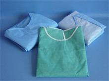 pictures of long disposable nonwoven sugical patient gown