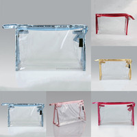 ANBEL Transparent Plastic Makeup Toiletry PVC Travel Cosmetic Bag Zipper Pouch Package