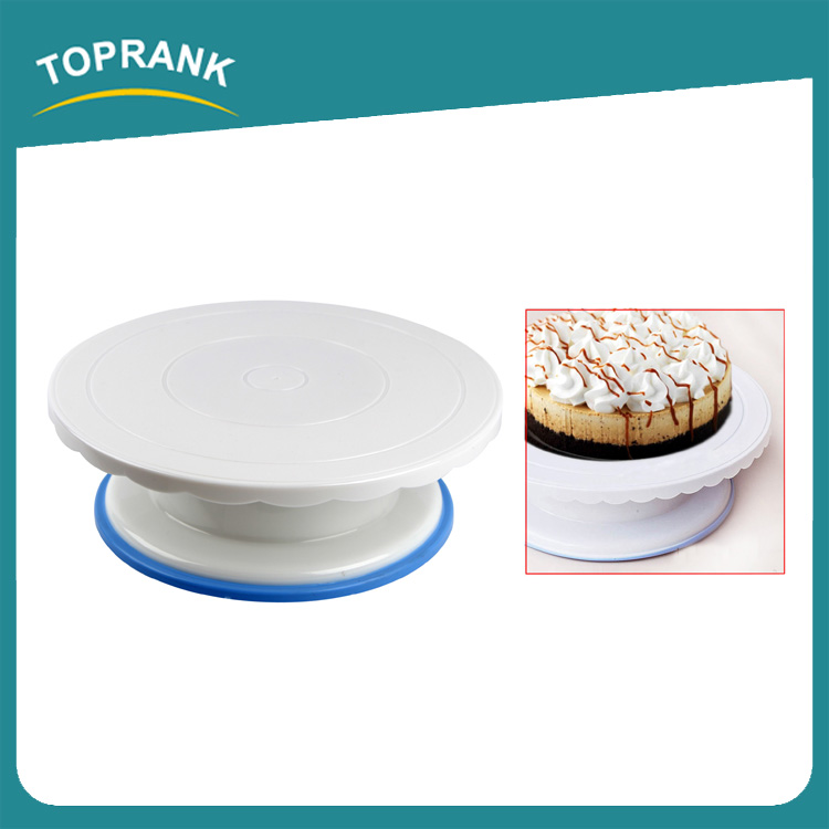 Toprank Cake Making Turntable Rotating Decorating Platform Display Stand 27cm Plastic Cake Decorating Turntable