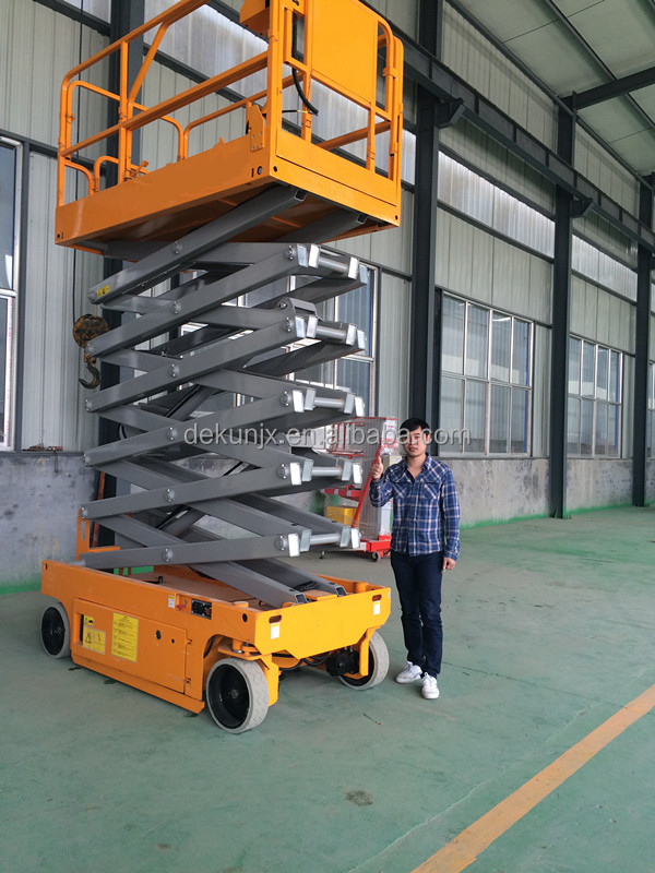 Material handling equipment 300KG 12M mobile hydraulic scissor lift with CE