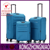 New design expandable customized travel trolley luggage bag