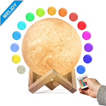3D Moon Lamp, Bedrooms Lamp LED Night Light Color Change / Luna Moon Lamp