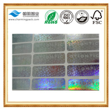 logo adhesive holographic sticker labels