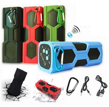 Water proof Bluetooth Speaker Power Bank With Mic NFC funtion outdoor sport portable spearkers for climbing running dancing