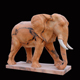Life size garden hand carved Mixed marble elephant stone sculpture