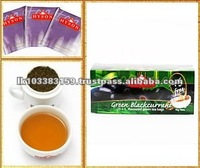 Nature Flavored Blackcurrant Green Tea Bags