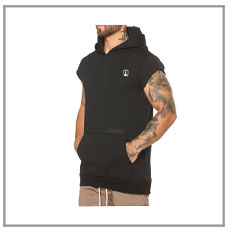 Fitness custom stringer hoodie tank top muscle tank top men stringer vest made in China
