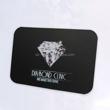 Top luxury custom logo engraved black metal business cards support free design