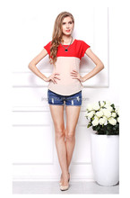 simple design low price new arrival fashion lady tops OCW3839