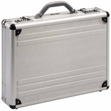 aluminium silver numberlocks executive briefcase attache tool box
