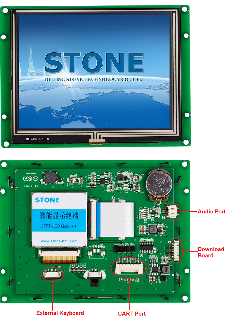 STONE 5.6 Inch TFT LCD Module Touch Screen Connector Wwith MCU