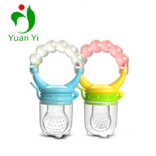 Silicone Baby Fresh Fruit Feeding Nibbler Tool Food Pacifier Feeder With Rattle Toy