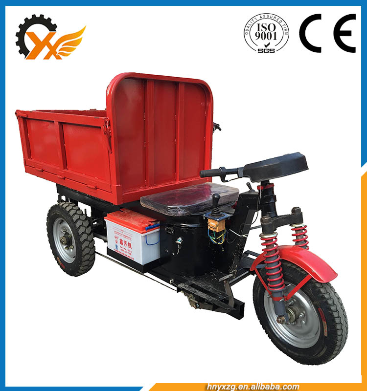 No pollution heavy load electric tricycle china three wheel dump