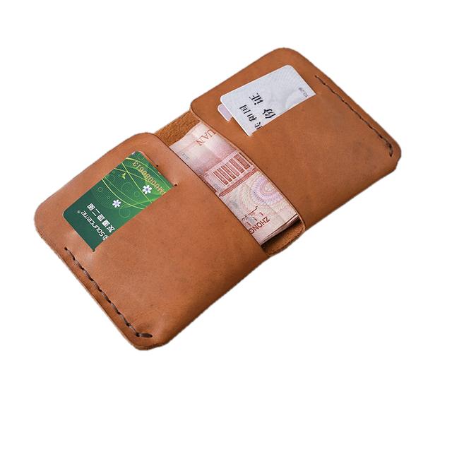 New Brand Card Holder Crazy Horse Leather Slim Minimalist Wallet