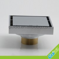 New product Smart square floor waste tile insert grate drain all brass