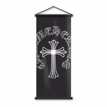 Printed Flag Promotional Art Christian Cross Souvenirs Banner Flag