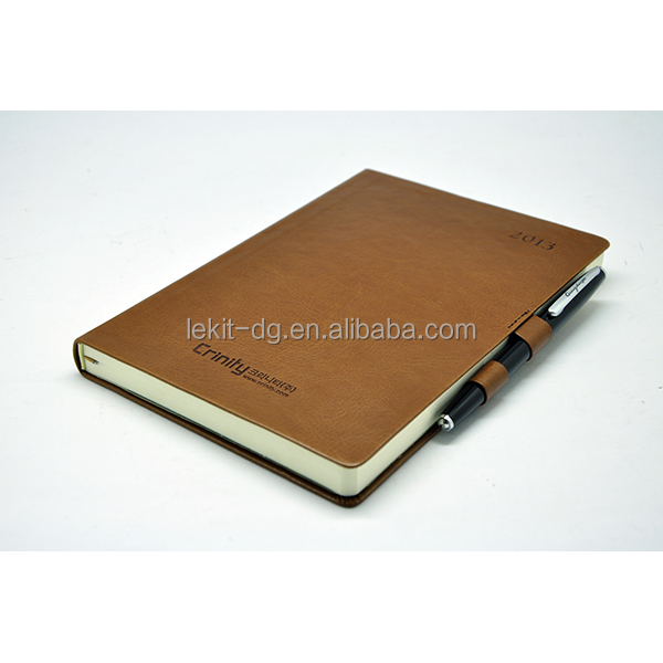 2017 luxury business diary with double pen loops for closure