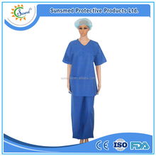 nonwoven medical uniforms scrub cleaning suit manufacturer,hospital nursing nonwoven scrub suit