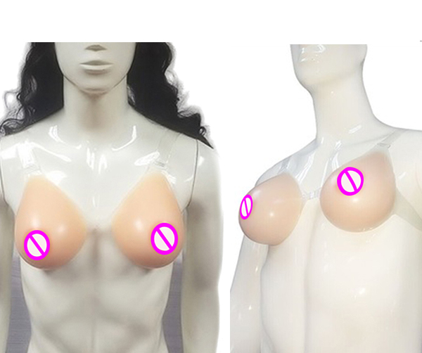 New Design Tear Drop Shape Silicone Breast Forms with Slight Concave Backside for Cross Dressing Shemale Fake Boobs