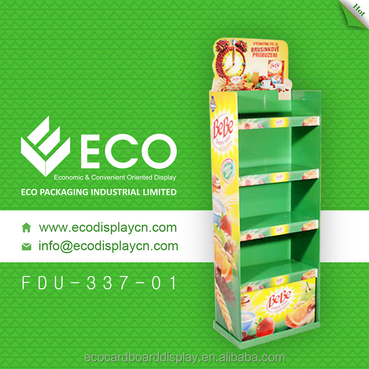 Custom retail corrugated cardboard display for snack stand