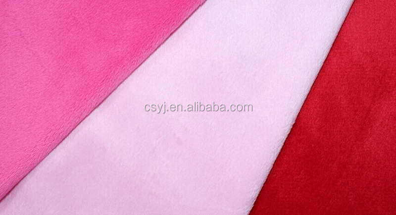 Newest Embossed Fabric super soft short pile velvet for toys