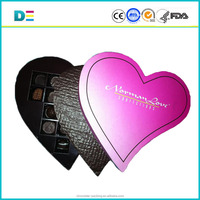 Luxury heart shape chocolate packaging box / chocolate candy box / chocolate box with blister insert