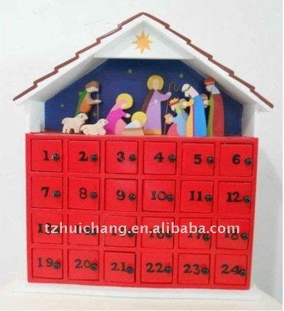 Advent calendar Christmas Nativity Scene