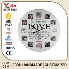 D3290 photo frame inserted home decor clock