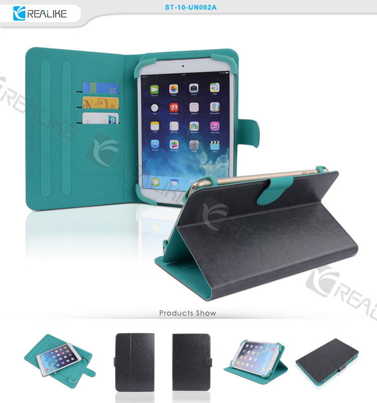 7.0 8.0 9.7 10.1 inches universal tablet leather case with stylus pen