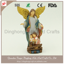 Wholesale Resin Angel and Cross Religious Crafts Amethyst Angel