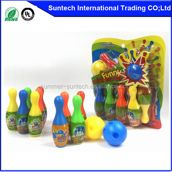 Plastic bowling set with balls bowling gift