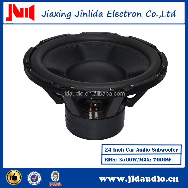 24 Inch Car 3500W Speaker Audio Black Aluminum Frame Subwoofer