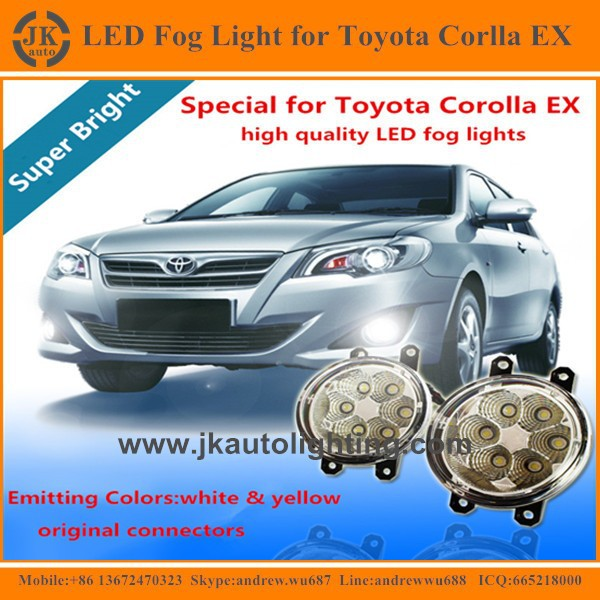 Factory Direct Hot Sale LED Fog Lamp for Toyota Corolla EX Top Quality Angel Eyes LED Foglight for Toyota Corolla EX 2011-2015