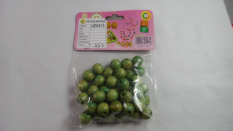 Best sell round craft wooden beads for lemon fake model in arts and crafts