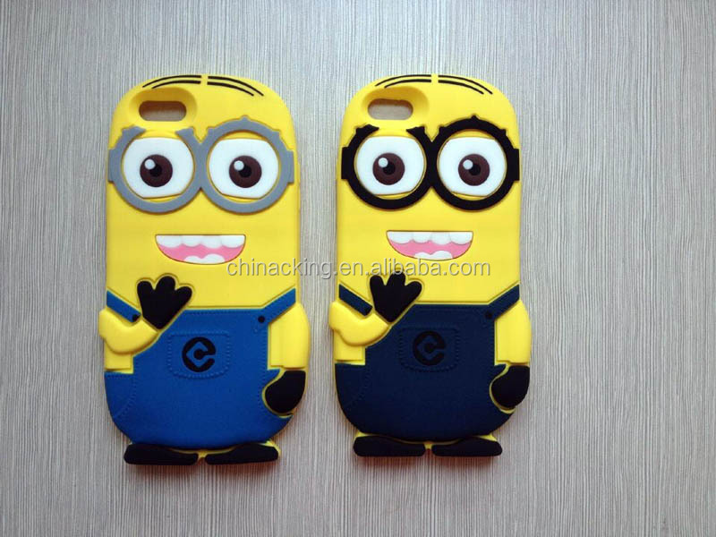 Despicable Me 2 Minion 3D Silicone Soft Case Cover For Apple/Samsung Phones
